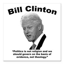 "Clinton: Govern Square Car Magnet 3"" x 3"""