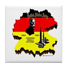 Pershing In Germany Tile Coaster