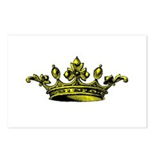 Crown Yellow Black Postcards (Package of 8)