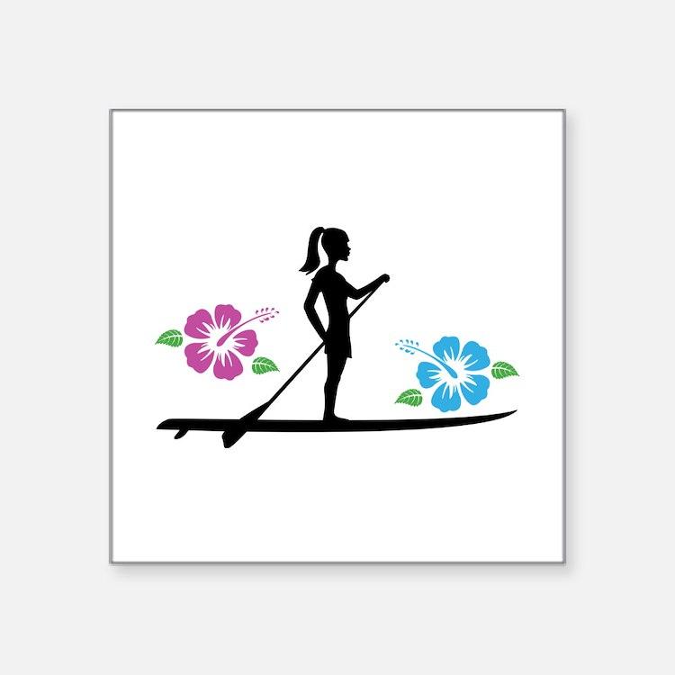 Paddleboarding girl Sticker