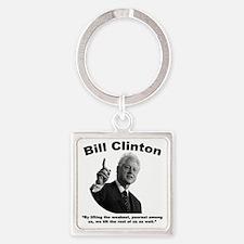 Clinton: Aid Square Keychain