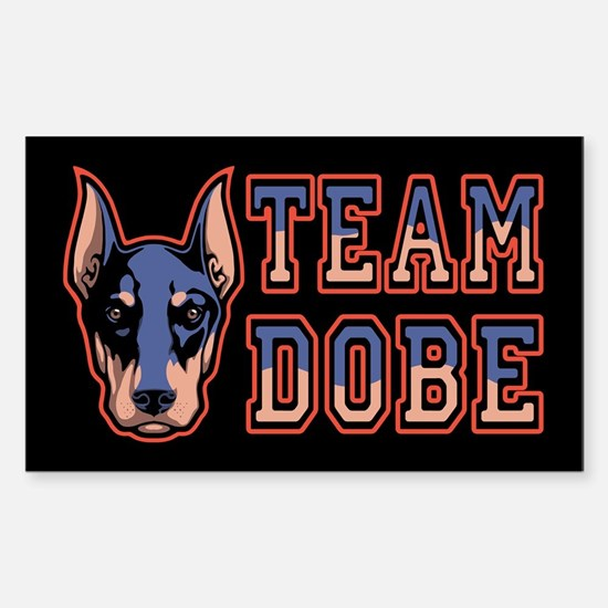 Team Dobe Sticker (Rectangle)