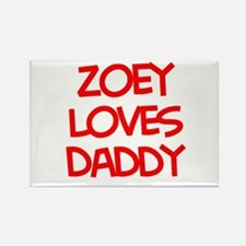 Zoey Loves Daddy Rectangle Magnet