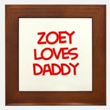 Zoey Loves Daddy Framed Tile