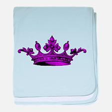 Crown purple black baby blanket