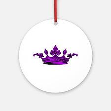 Crown purple black Ornament (Round)