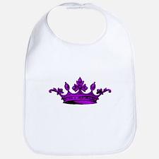 Crown purple black Bib