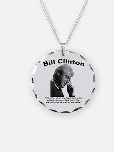 Clinton: Republicans Necklace Circle Charm