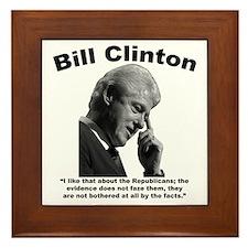 Clinton: Republicans Framed Tile
