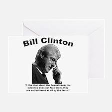 Clinton: Republicans Greeting Card
