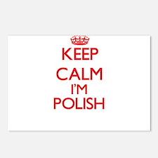 Keep Calm I'm Polish Postcards (Package of 8)