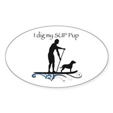 SUP PUP guy Decal
