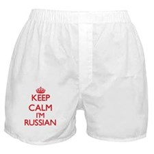 Keep Calm I'm Russian Boxer Shorts