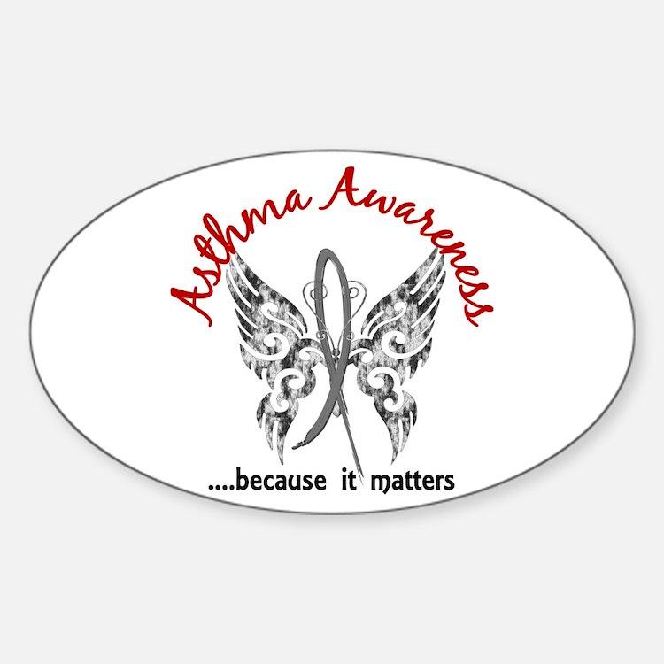 Asthma Butterfly 6.1 Sticker (Oval)