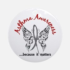 Asthma Butterfly 6.1 Ornament (Round)