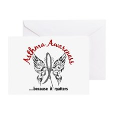 Asthma Butterfly 6.1 Greeting Card