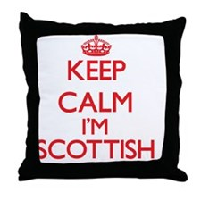 Keep Calm I'm Scottish Throw Pillow