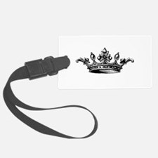 Crown Black White Centered Luggage Tag