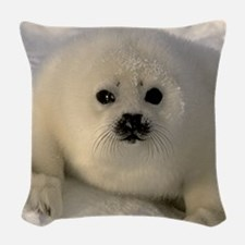 Baby Seal Woven Throw Pillow