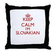 Keep Calm I'm Slovakian Throw Pillow