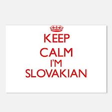 Keep Calm I'm Slovakian Postcards (Package of 8)
