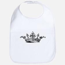 Crown Black White Centered Bib