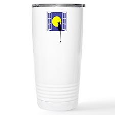 Cat and Moon Travel Mug