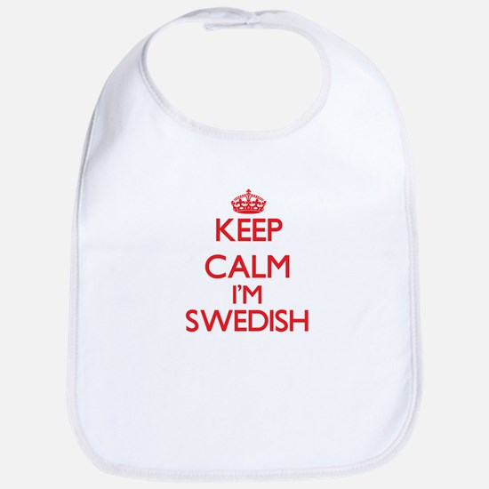 Keep Calm I'm Swedish Bib