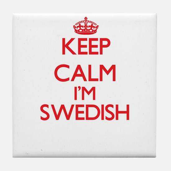 Keep Calm I'm Swedish Tile Coaster