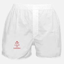 Keep Calm I'm Swedish Boxer Shorts