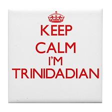 Keep Calm I'm Trinidadian Tile Coaster