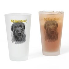 Big Hairy Beast label Drinking Glass