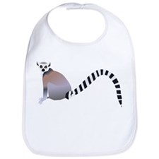 Cartoon Ring-Tail Lemur Bib