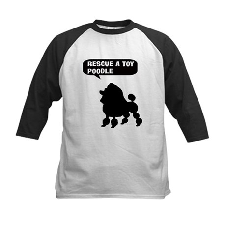 Rescue a Toy Poodle Kids Baseball Jersey