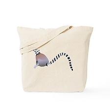 Cartoon Ring-Tail Lemur Tote Bag