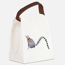 Cartoon Ring-Tail Lemur Canvas Lunch Bag
