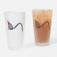 Cartoon Ring-Tail Lemur Drinking Glass
