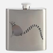 Cartoon Ring-Tail Lemur Flask