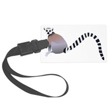 Cartoon Ring-Tail Lemur Luggage Tag