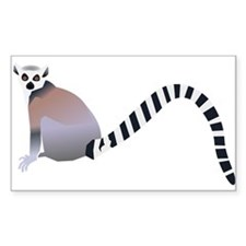 Cartoon Ring-Tail Lemur Decal
