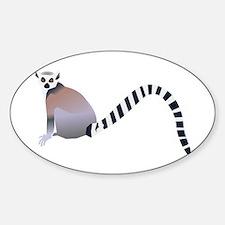 Cartoon Ring-Tail Lemur Decal