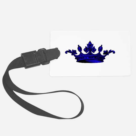Crown Blue Black Luggage Tag