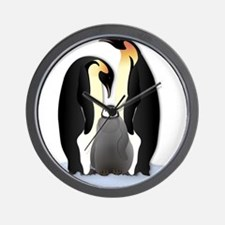 Penguin Family Wall Clock
