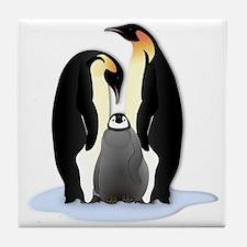 Penguin Family Tile Coaster