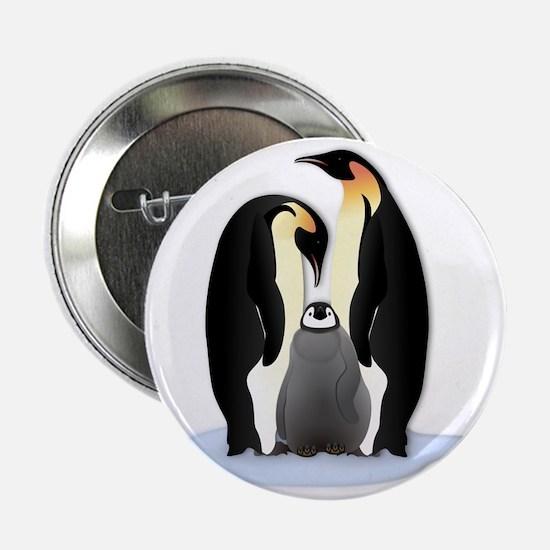 """Penguin Family 2.25"""" Button"""