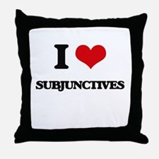 I love Subjunctives Throw Pillow