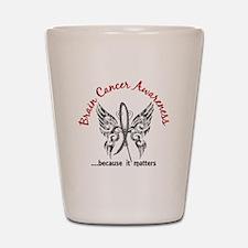 Brain Cancer Butterfly 6.1 Shot Glass