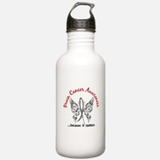 Brain Cancer Butterfly Water Bottle