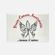 Brain Cancer Butterfly 6.1 Rectangle Magnet