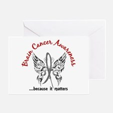 Brain Cancer Butterfly 6.1 Greeting Card